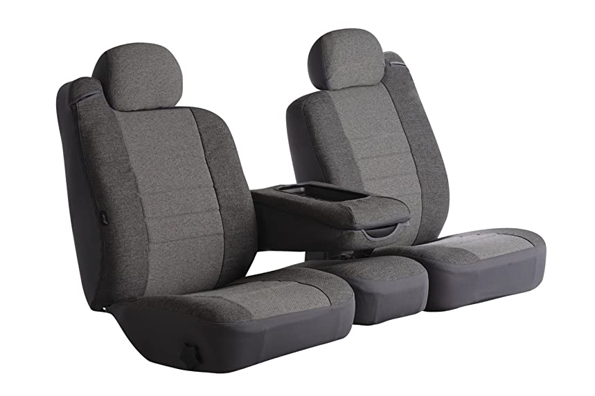 Fia OE39-27 GRAY Custom Fit Front Seat Cover Split Seat 40/20/40 - Tweed, (Gray)