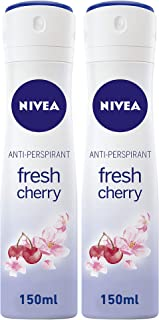 Sponsored Ad – NIVEA Fresh Cherry, Deodorant Spray for Women, 2 x 150 ml