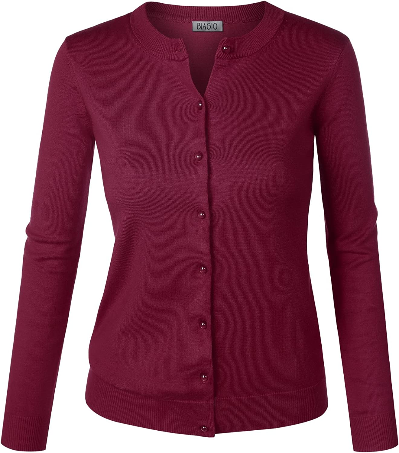BIADANI Women Button At NEW before selling ☆ the price Down Long Soft V-Neck Sleeve Sweat Cardigan