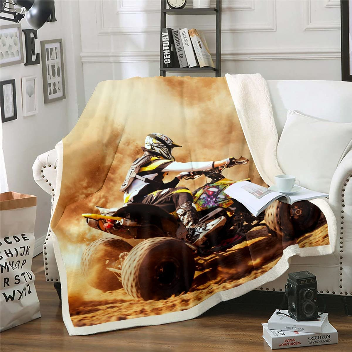 Mountain Bike Sherpa Blanket Motocross Sport Beauty products Racer High quality Theme Extreme