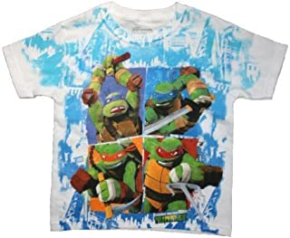Teenage Mutant Ninja Turtles Little & Big Boys White Graphic Tee T-Shirt Top
