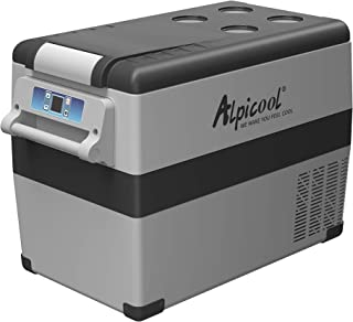 Alpicool CF45 Portable Refrigerator/Freezer 48 Quart Vehicle, Car, Truck, RV, Boat, Mini Fridge Freezer for Driving, Travel, Fishing, Outdoor and Home use -12/24V DC and 110-240 AC (-4°F to 68°F