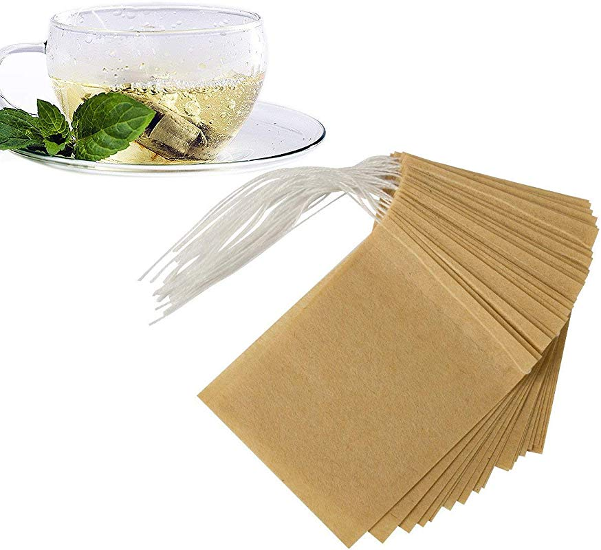 ANPHSIN 300 Pieces Empty Tea Filter Bags Large Size 3 5 X 2 7 Disposable Tea Infusers Safe Natural Bags With Drawstring For Loose Leaf Tea