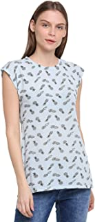 RUTE Cotton Jersey Half Sleeves Printed T-Shirts for Women