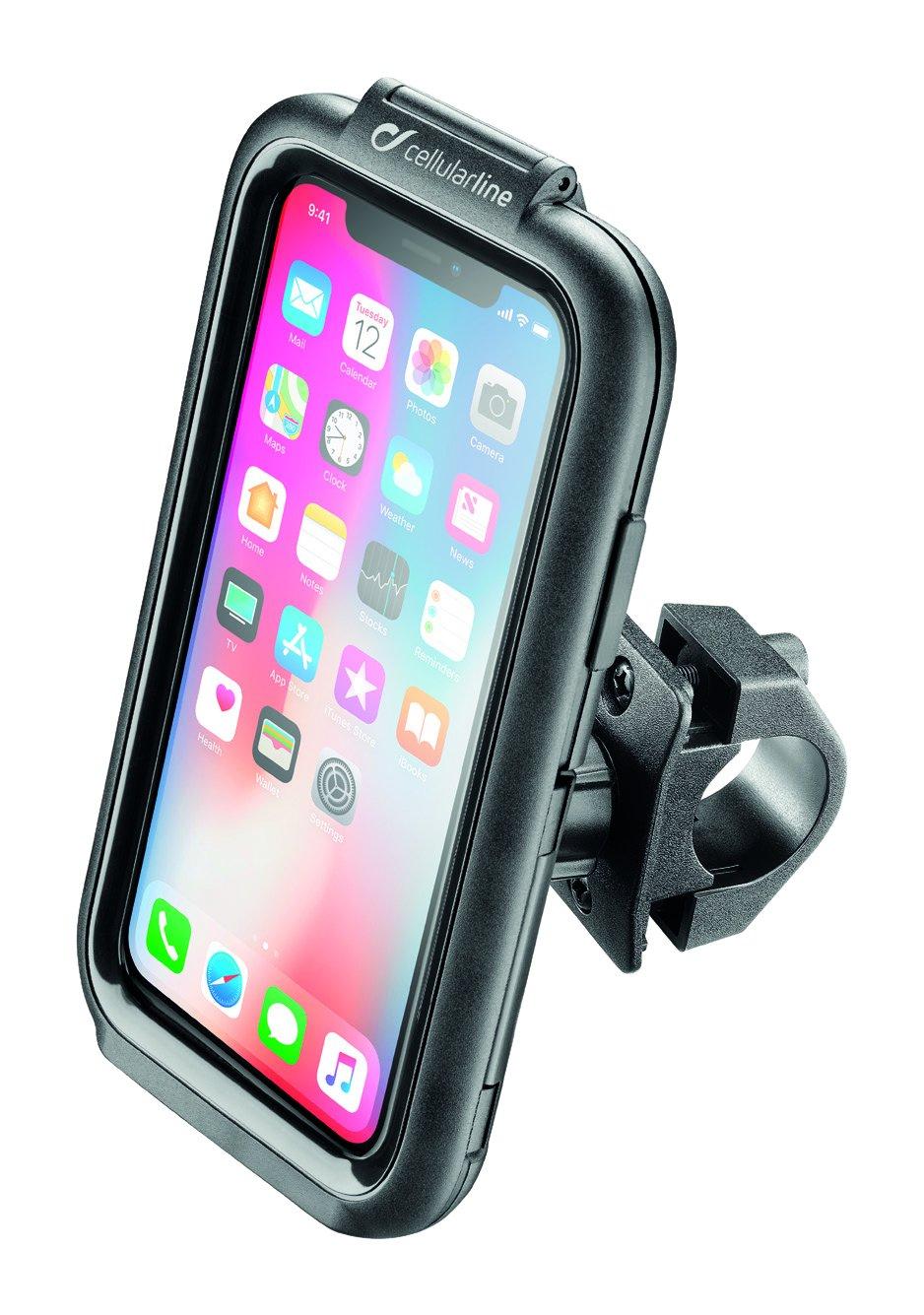 Cellularline SMIPHONEX - Soporte (Teléfono móvil/Smartphone, Bicicleta/Coche, Negro, Soporte pasivo, Apple iPhone X, 300 g): Amazon.es: Electrónica