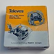 Televes 7304-DI 522610-Toma Terminal tv790/fm-sat 0,6-1,5db+Corriente Continua