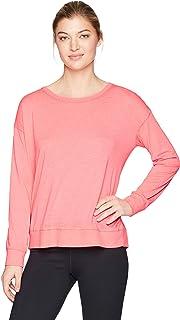 Calvin Klein Women's Long Sleeve Drop Shoulder Tie Back Tee