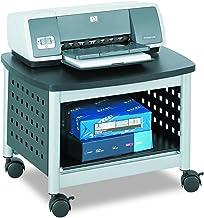 Safco 1855BL - Soporte para fotocopiadoras e impresoras (con ruedas), gris