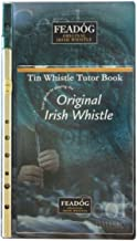 Feadóg Brass Traditional Irish Nickel Tin Whistle in the Key of D with Tutor Book