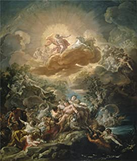 The high quality polyster Canvas of oil painting 'Giaquinto Corrado El nacimiento del Sol y el triunfo de Baco Ca. 1761 ' ,size: 24 x 28 inch / 61 x 72 cm ,this Vivid Art Decorative Canvas Prints is fit for Home Office gallery art and Home decoration and Gifts
