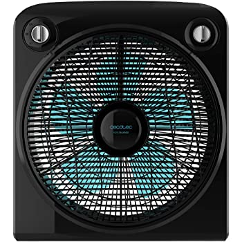 Cecotec EnergySilence 6000 PowerBox Black Ventilador de Suelo. 5 aspas. 50W. 3 velocidades. Motor de Cobre. con regilla Rotatoria. Temporizador de 2h: Amazon.es: Hogar