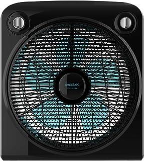 Cecotec ForceSilence 6000 PowerBox Black Ventilador de Suelo. 5 aspas. 50W. 3 velocidades. Motor de Cobre. con regilla Rotatoria. Temporizador de 2h