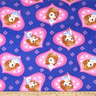 sofia the first fleece fabric by the yard