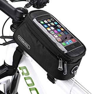 COTEetCI Bicycle Frame Top Tube Bag Bike Storage Handlebar Bag Cycling Pouch with Touch Screen Holder