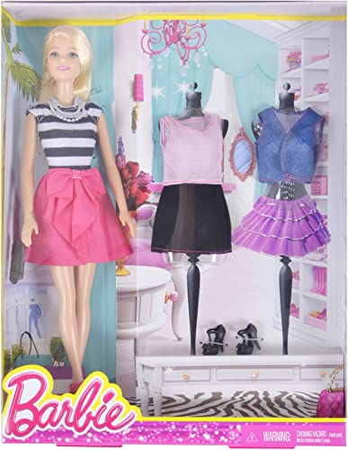 mejor oferta Barbie DMK54 DMK54 DMK54 Fashion Creations Blonde Barbie Doll Gift Set with Bonus Outfit and zapatos  el precio más bajo