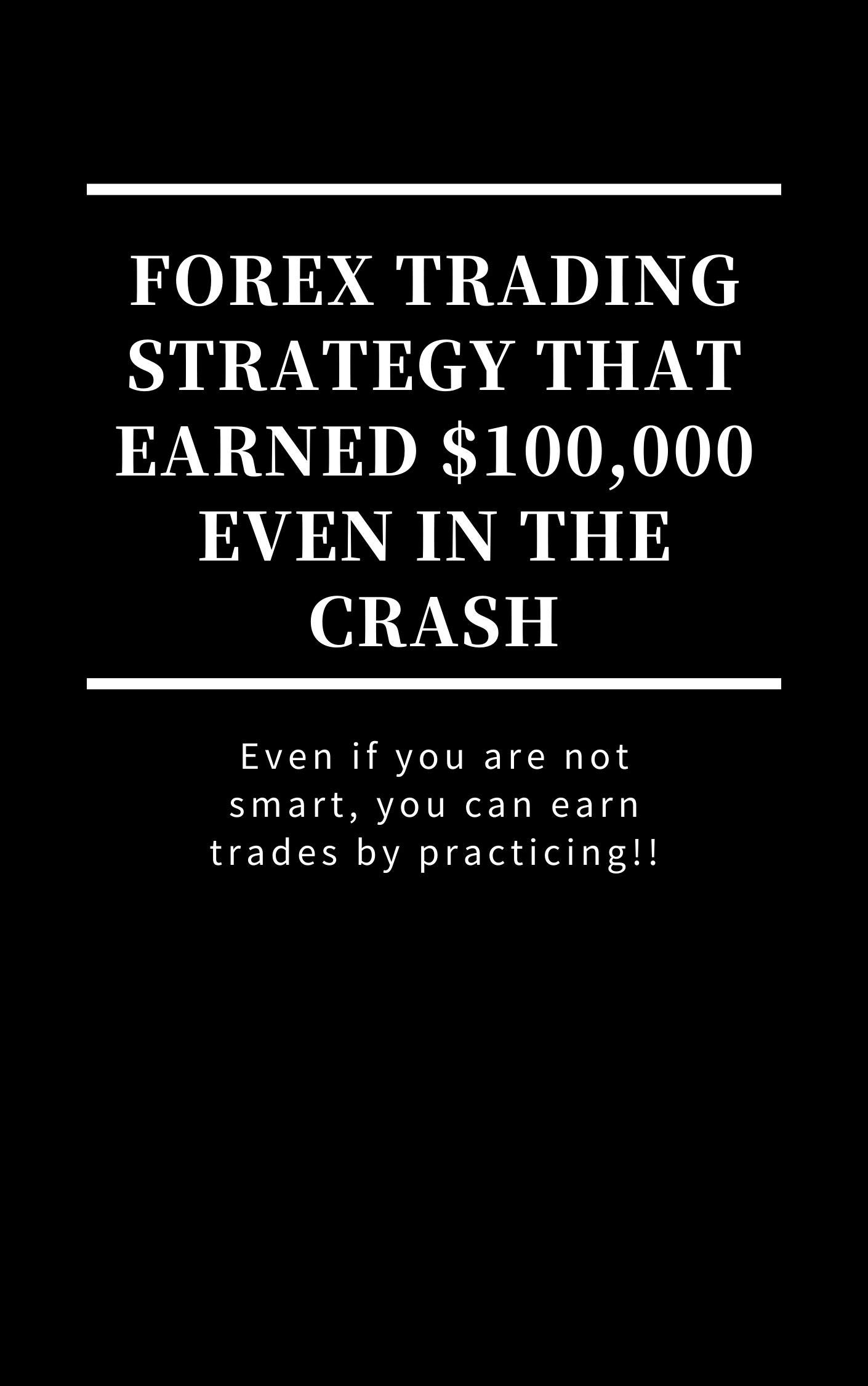 Forex trading strategy that earned $100,000 even in the crash