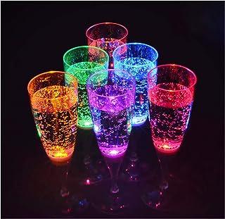b4511dc245 6 pièce verre de champagne dans un ensemble LED rétroéclairé LED verre  Parti verre de 150