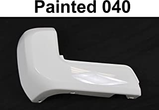 For Toyota Tacoma 2016-2019 Rear Bumper End Painted 040 Super White W/O Sensor Hole Lh TO1104133