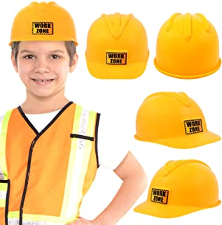 Anapoliz Kids Construction Hat | Yellow, Plastic Childrens Hard Hat | Toy Construction Worker Helmet for Kids | Dress Up, ...