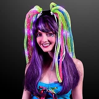 Neon Noodle Rave Headband with Purple LEDs