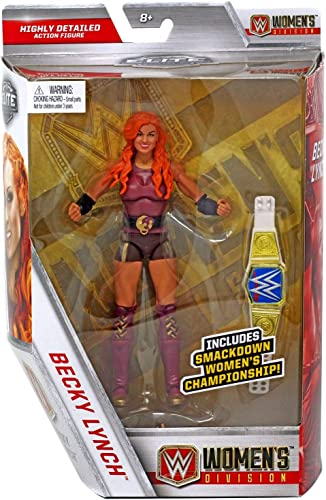 WRESTLING WWE Mattel Elite Collection Becky Lynch Figurine avec Smackdown Championnat féminin courroieA