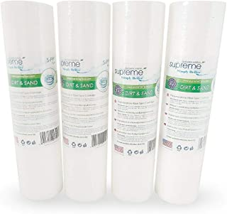 Supreme Lot de 4 cartouches de filtre à eau pour sédiments 25,4 cm