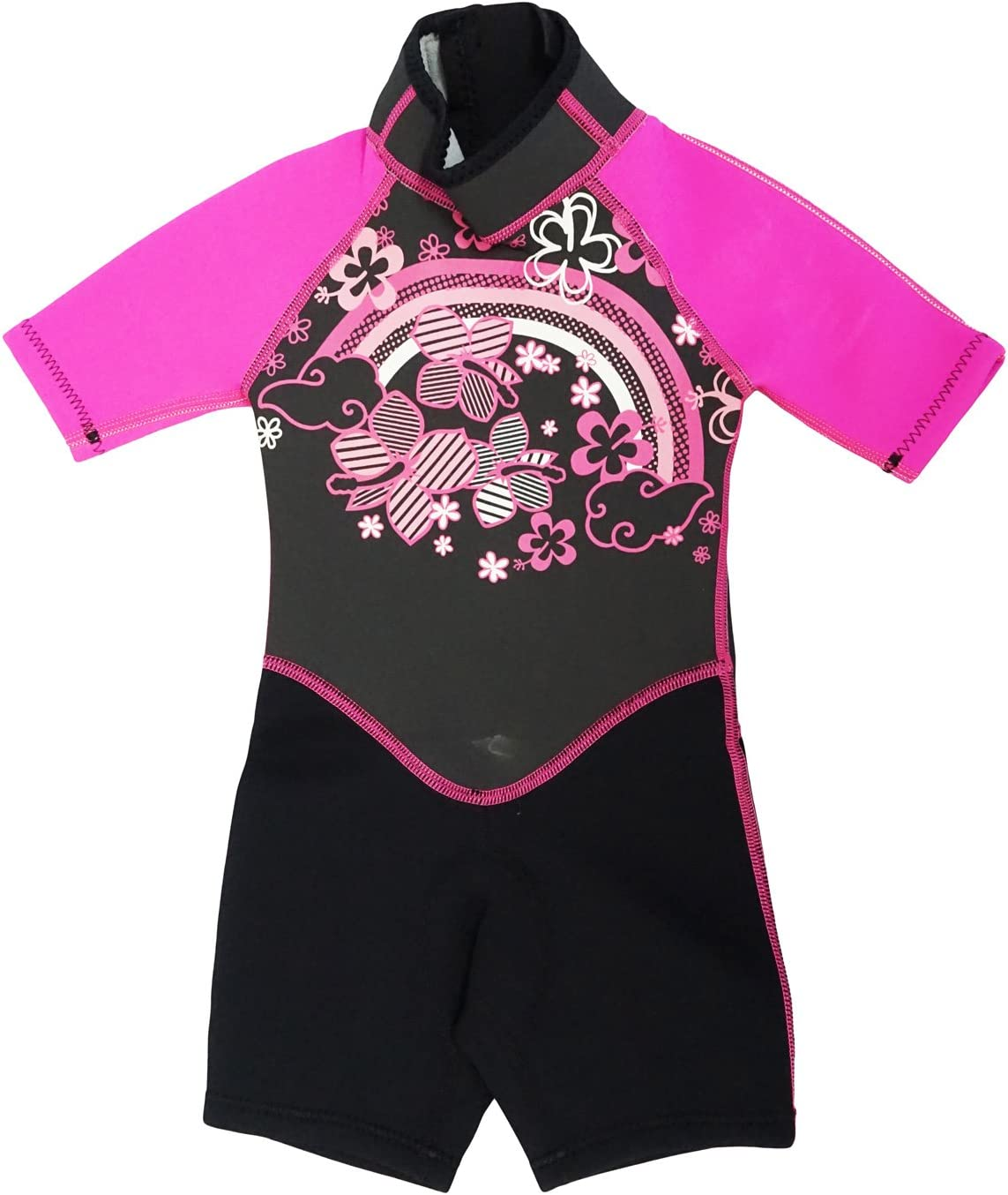 Kiddi Choice Limited time trial price Kids 2.5mm Neoprene New product type Black Pink Short Wetsuit Sleeve