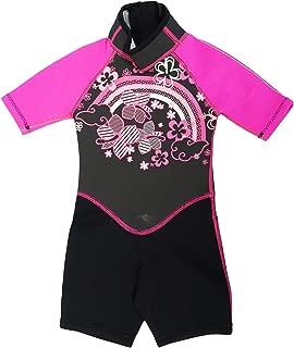 Kiddi Choice Kids 2.5mm Neoprene Short Sleeve Wetsuit Black/Pink