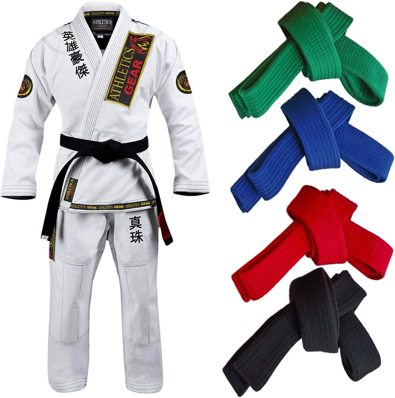 etc Todas Las Tallas y Colores KO Cinturon Artes Marciales para ni/ños y Adultos Taekwondo Karate Judo Dr