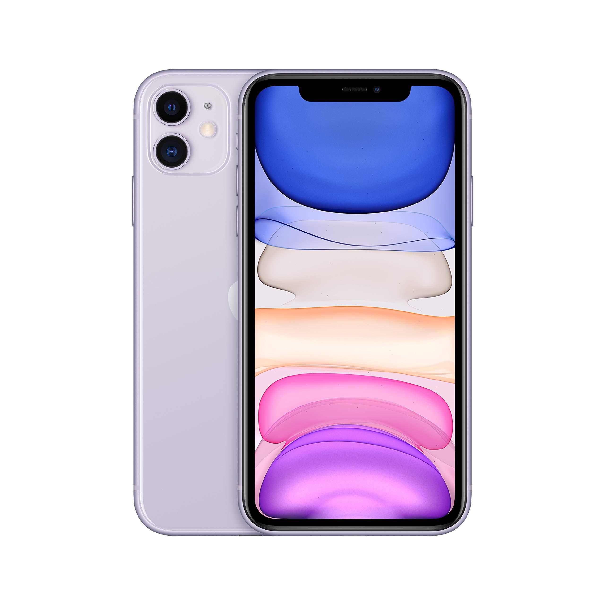 Apple iPhone 11 [64GB, Purple] + Carrier Subscription [Cricket Wireless]