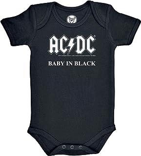Metal-Kids AC/DC Baby in Black - Baby Body Größe 80/86