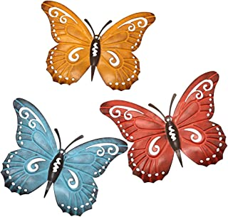 Juegoal Metal Butterfly Wall Art, Inspirational Wall Decor Sculpture Hanging for Indoor..