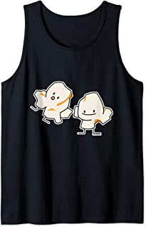 Happy Popcorn kernels popping buttered corn Tank Top