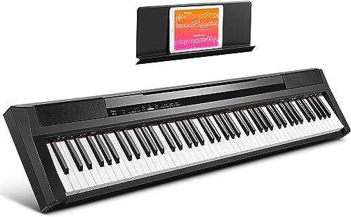 Donner Piano Numérique électrique 88 Touches Semi-lestées, Portable Clavier Fullsize pour Débutant avec Pédale et Enc...