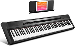Donner DEP-10 Beginner Digital Piano 88 Key Full Size Semi-Weighted Keyboard, Portable Electric Piano with Sustain Pedal, ...
