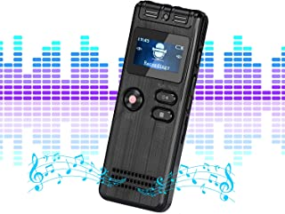 Lychee Professional Digital Voice Recorder, USB 1536Kbps 8GB Sound Audio Recorder, Support TF Card Expansion, Perfect for Lectures/Meeting/Conversation/Interviews