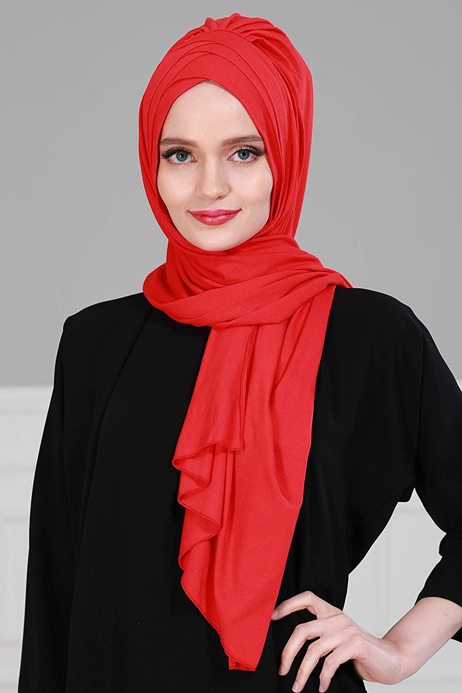 Jersey Shawl for Women Cotton Head Wrap Instant Modesty Turban Cap Scarf