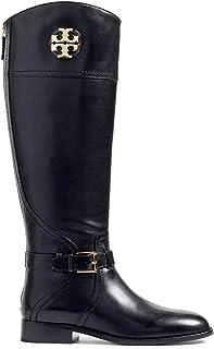 Tory Burch Adeline - Botas de equitación de Piel para Mujer, 20 m, Color Negro