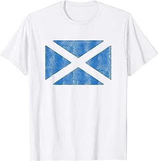 Vintage Scottish Flag Retro Scotland Souvenir Gift T-Shirt