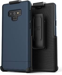 Encased Slimshield Belt Case for Samsung Galaxy Note 9 (2018) Ultra Slim Protective Hard Cover w/Holster Clip (Navy Blue)