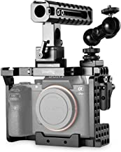 SMALLRIG Cage Kit for Sony A7II/A7RII/A7SII Camera with Cage, Handle, HDMI Lock, Cold Shoe, Quick Release Safety Rail, Double Ball Head - 1894