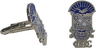 Phi Beta Sigma G521CL Crest/Shield Cufflinks Silver Color Cufflinks Fraternity Divine Nine Greek