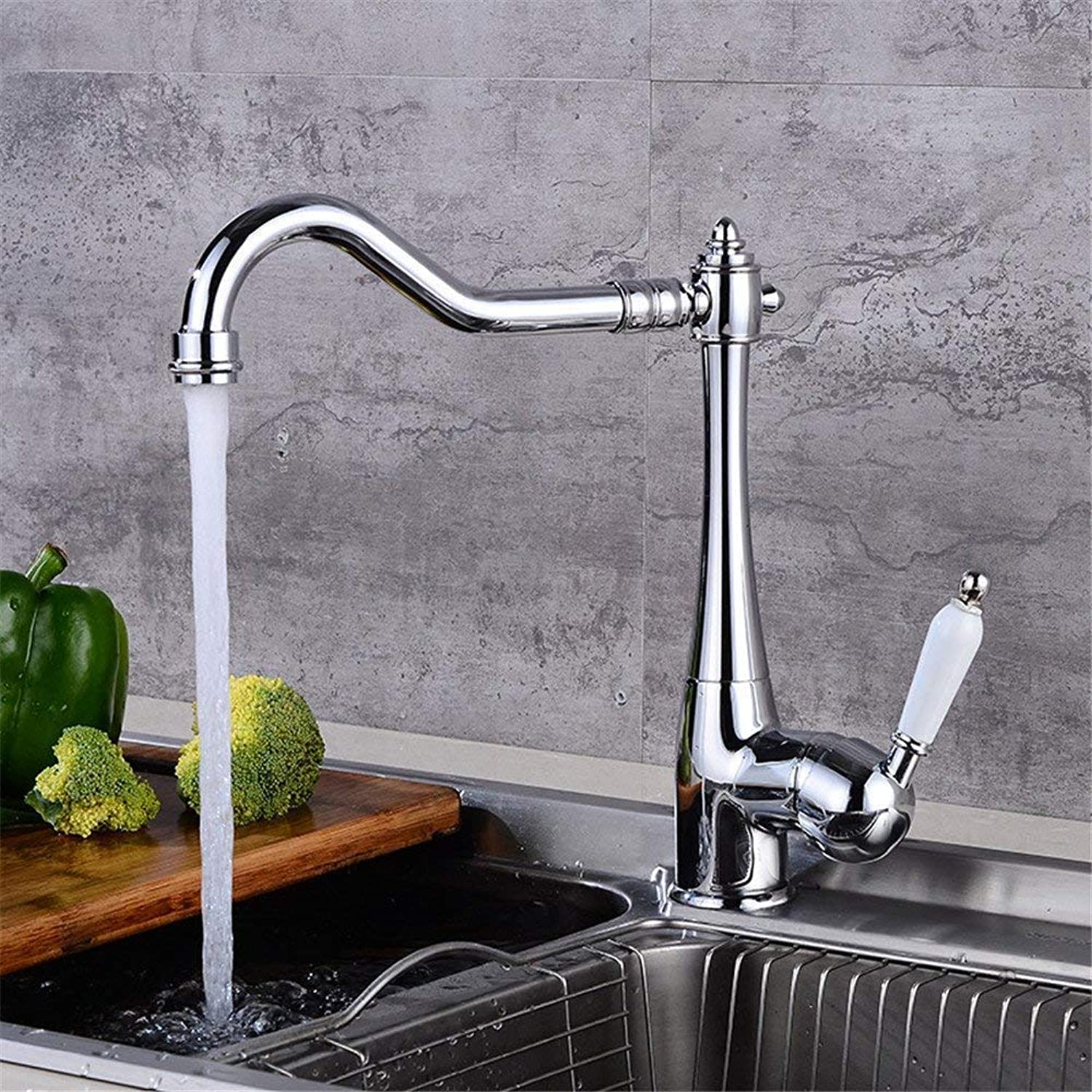FuweiEncore Silver Spring Kitchen Faucet Mixing Faucet Wash Basin Disc Kitchen Mixer Lift Kai (color   -, Size   -)