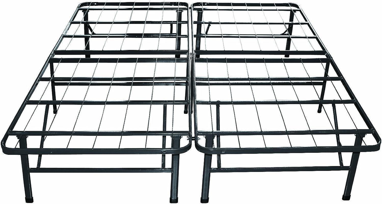 SavingBig NO to Box Platform Heavy Duty Metal Bed Frame Mattress Foundation, BEDFM60 (Queen)