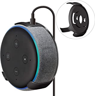 ELECOM-Japan Brand- Amazon Echo Dot 3rd Generation Smart Speaker Holder Wall Mount Type Black AIS-AED3H1BK