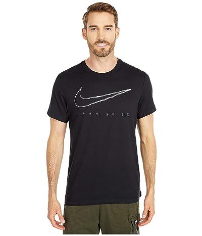 Nike Dri-FITtm Cotton Tee Vill (Black/White) Men