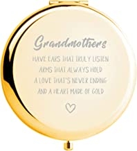 Grandma Gifts from Grandson Ideals Birthday Anniversaries Gift,Great Gifts Present for Grandma Grandmother (GOLD)