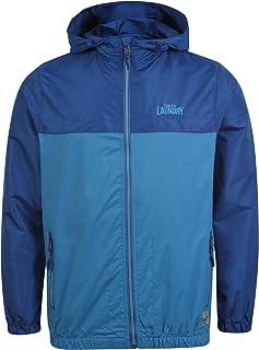 Tokyo Laundry Men's Corsica Zip Up Windbreaker Colour Block Hooded Rain Jacket Size S-XL