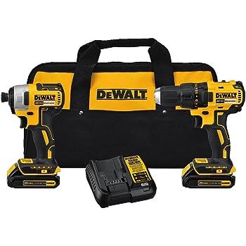 DEWALT 20V MAX Cordless Drill Combo Kit , Brushless, (DCK277C2)