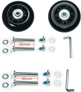 Wear-Resistant Mute Luggage Suitcase Replacement Wheels Rubber Swivel Caster Wheels Repair Kits 70 x 24mm